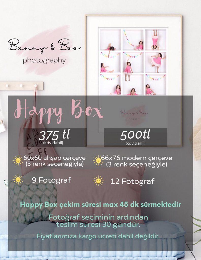 Happy Box Fotoğraf çekimi fiyat